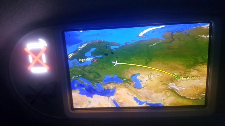 Flight from Riga to Almaty