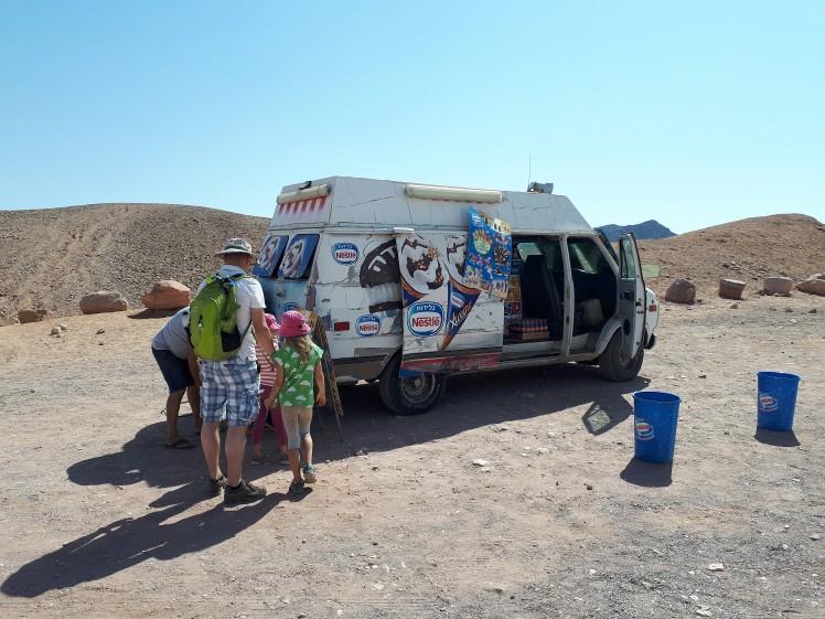 Jäätelöauto Red Canyonilla, Eilat, Israel