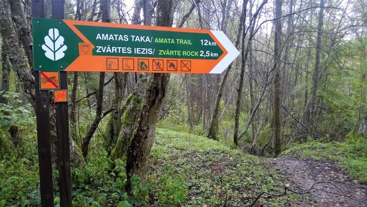 Amata Trail sign