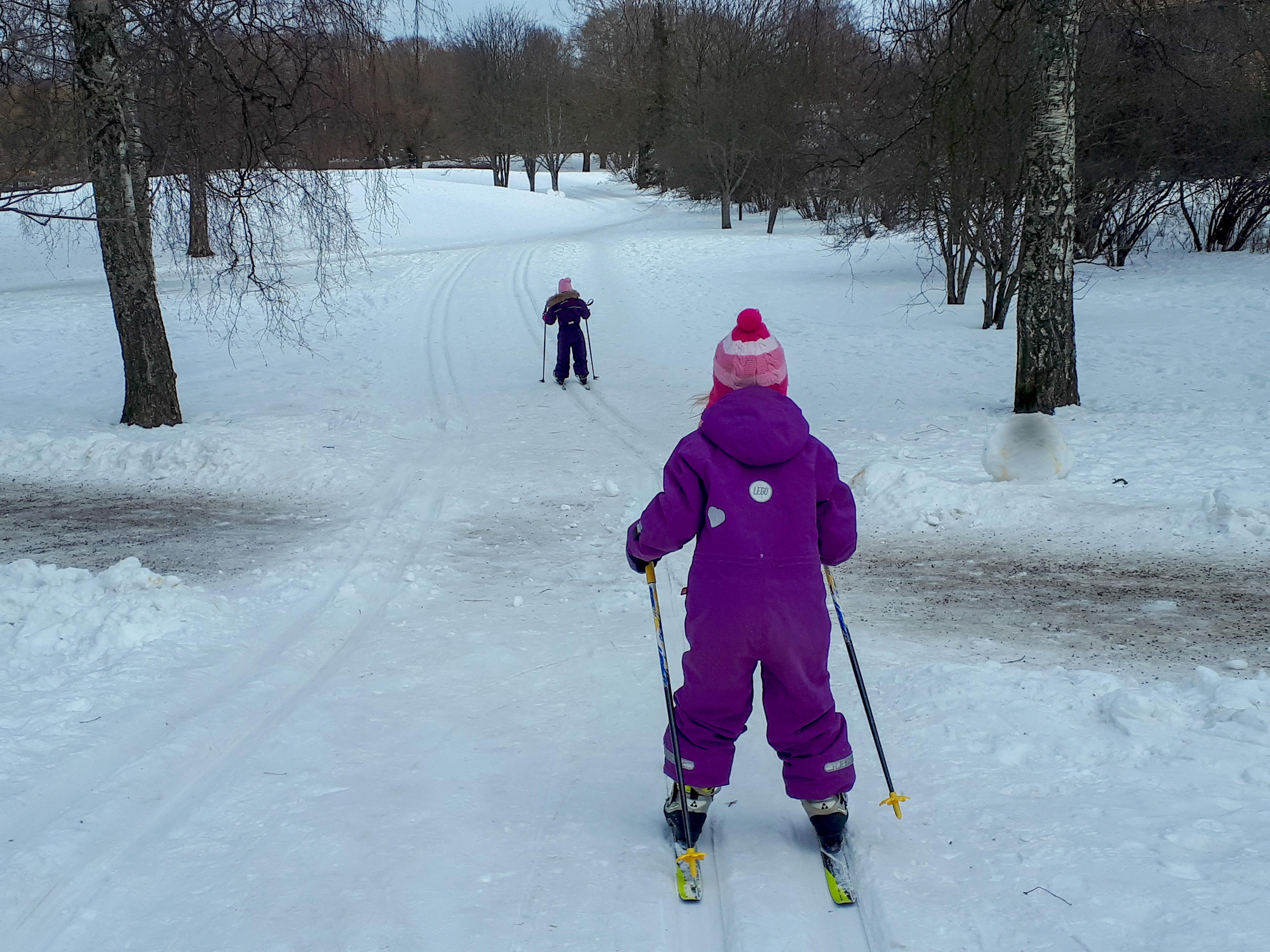 Skiing in Lauttasaari