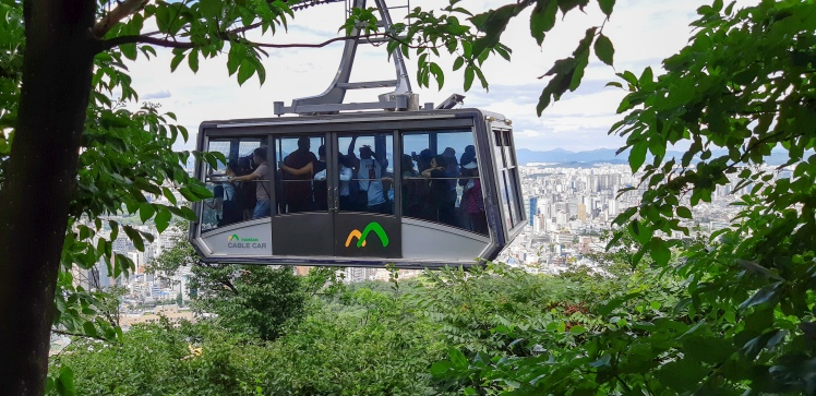 Cable car up to Namsam