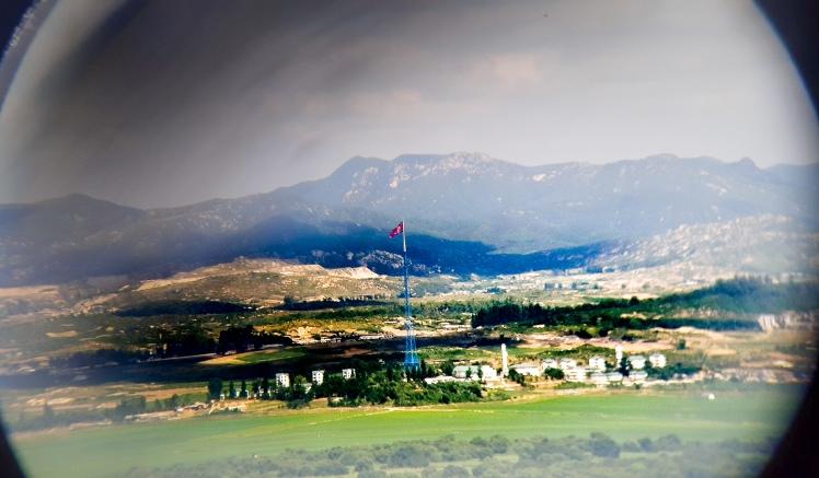 Flag of North Korea from Dorasan Observatory